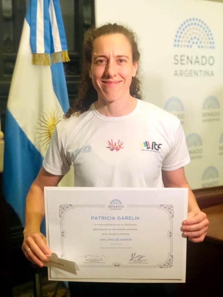 Patricia Garelik premio Senado