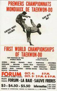 1st world championships of Taekwon-Do