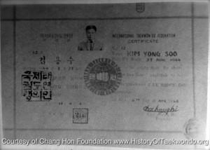 Former ITF Chief Instructor KIM Yong-Soo