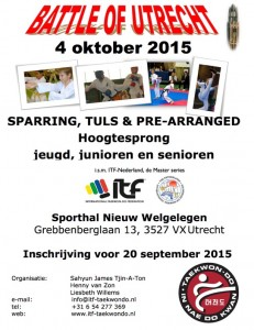 Poster Battle of Utrecht 4 oktober 2015
