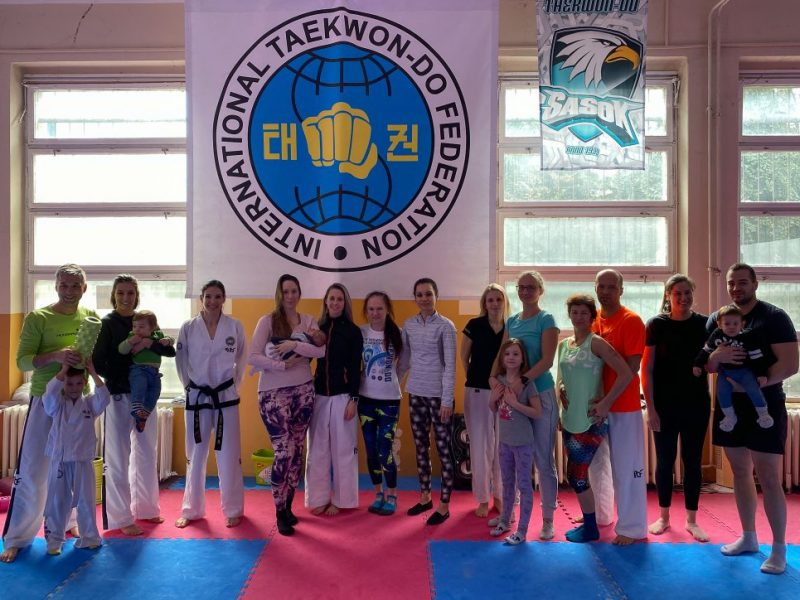 Taekwon-Do class commemorating International Women's Day in Hungary.