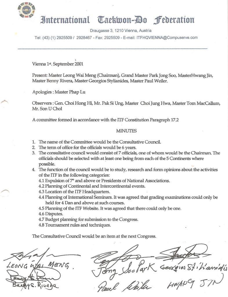 Consultative Council Choi ITF